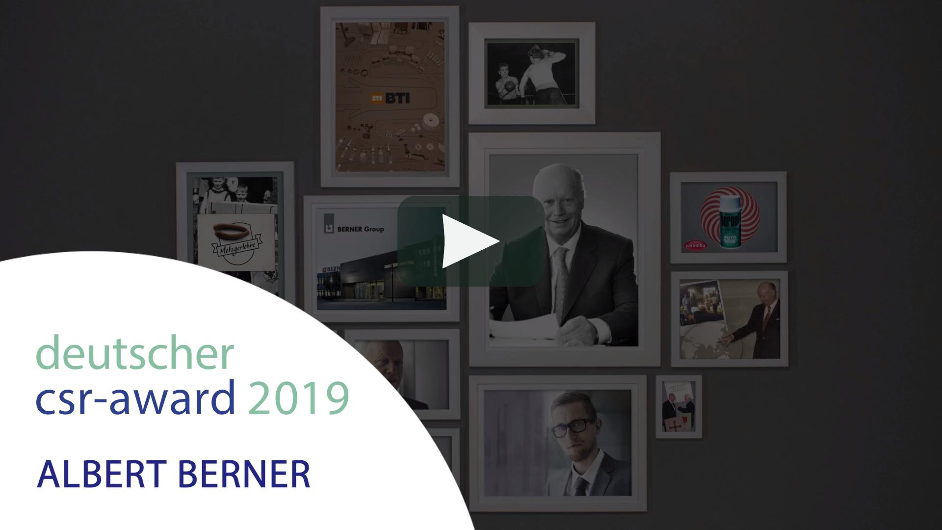 Video Vimeo: Deutscher CSR Preis 2019 - Albert Barner